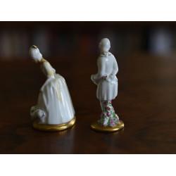 Dvořané, dvě figurky