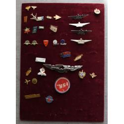Sbírka odznaků - letectví,...
