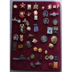 Sbírka odznaků - SSSR aj.,...