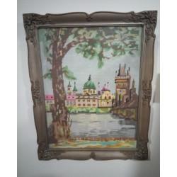 Karlův most - vyšívaný obraz
